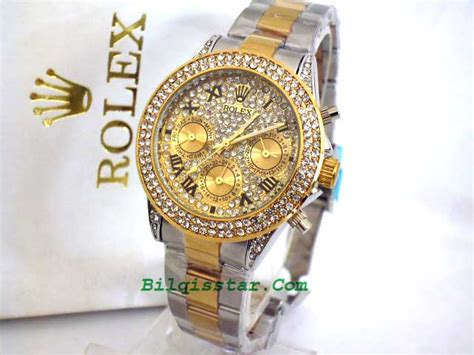 Ready Rolex Wanita Silver Kw rolex daytona chrono stainless blink cewek