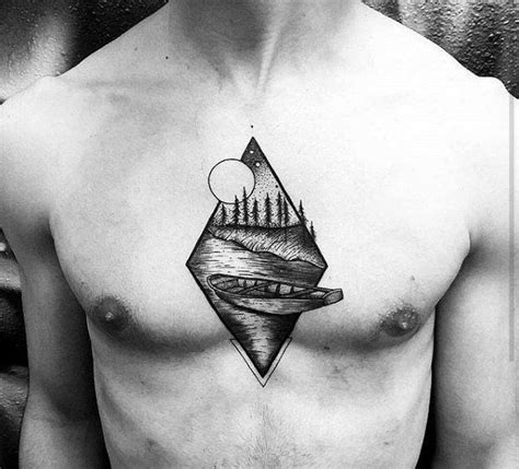 small modern tattoos 50 small chest tattoos for guys masculine ink design