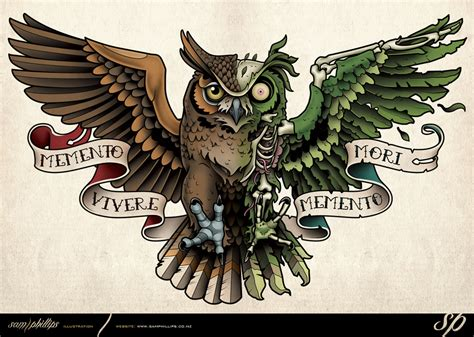 mechanical owl tattoo design this is a mechanical steunk owl tattoo i designed for