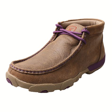 twisted x shoes twisted x driving mocs with purple accents wdm0015