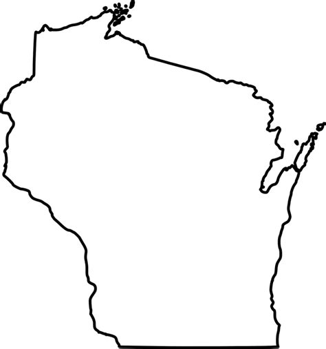us map outline svg free vector graphic wisconsin state map outline free