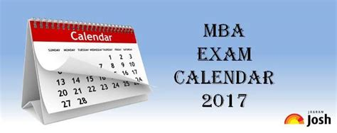 Mba Exams 2017 Ou by Mba Calender 2017 College