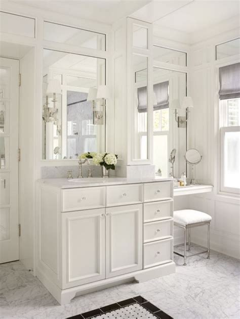 Bathroom Makeup Vanity Table Adorable Traditional Bathroom With Makeup Vanity Table Set With Mirror Design Master Bath