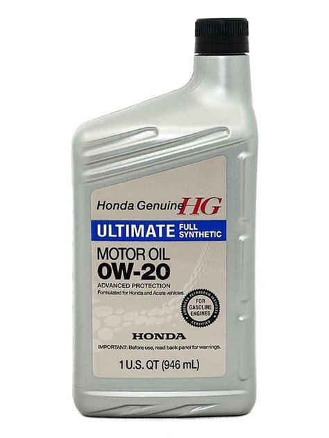 honda 0w 20 ultimate synthetic motor 08798 9037