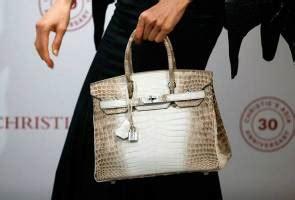 Promo Tas Tangan Handbag Mes Bir Kin Croco 25 Dove Terbaru Fanta beg tangan kulit buaya hermes pecah rekod dilelong