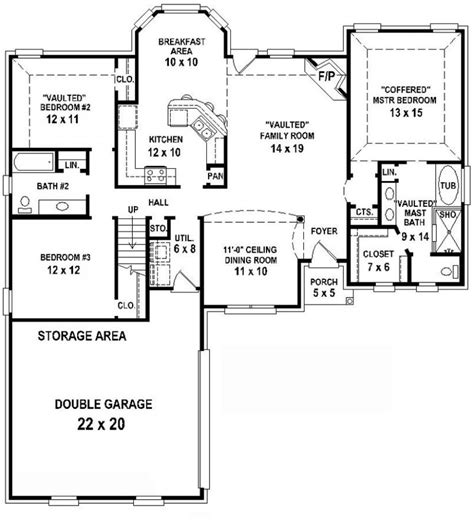 Charming Ranch Style Home Plans With 3 Car Garage #12: Small-3-Bedroom-2-Bath-Houseplans.jpg