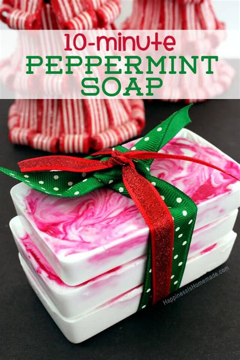 10 easy christmas gifts to make 10 minute diy gift idea peppermint soap happiness is