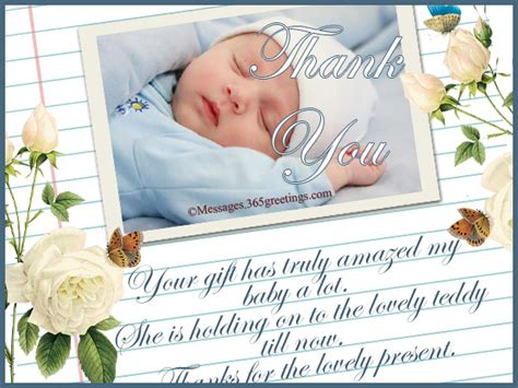 Sle Thank You Card For Baby Gift - thank you card wording for baby shower group gift image bathroom 2017
