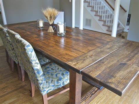 build a rustic dining room table wood shop more dining table build plans