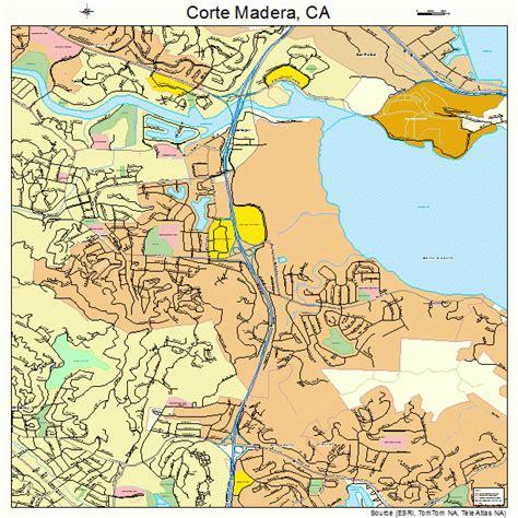 corte madera corte madera california street map 0616462