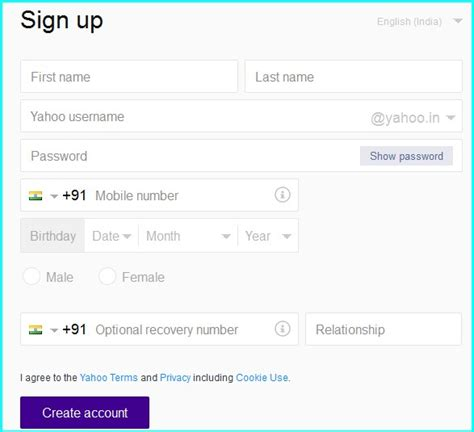 yahoo mail login mobile yahoo mail login yahoo mail new account sign in steps
