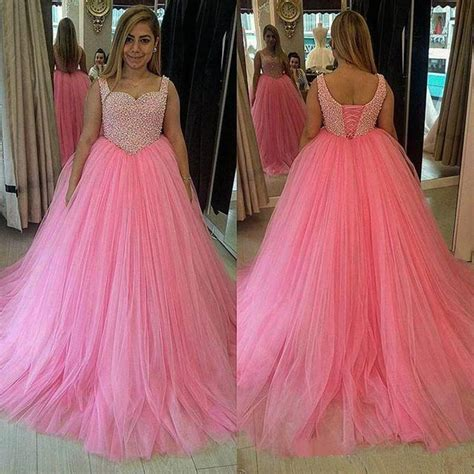 Dress Sweet Pink pink prom dress sweet 16 dresses peals prom gown tulle