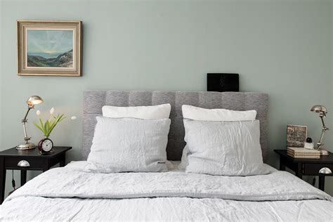 chambre avec t 234 te de lit en tweed