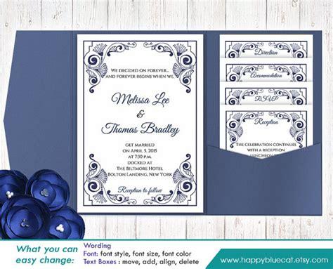 pocket card template microsoft word diy printable pocket wedding invitation template set