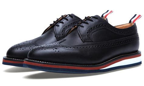 thom shoes thom browne wedge sole wing brogue shoes