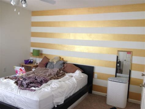 gold accent wall help needed with a gold striped accent wall