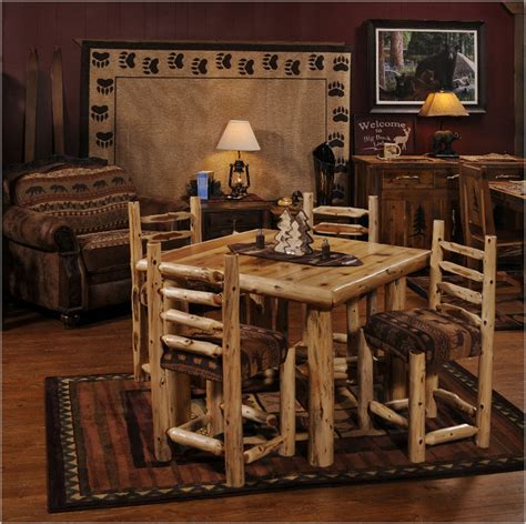 big woods cedar log dining set minnesota log furniture