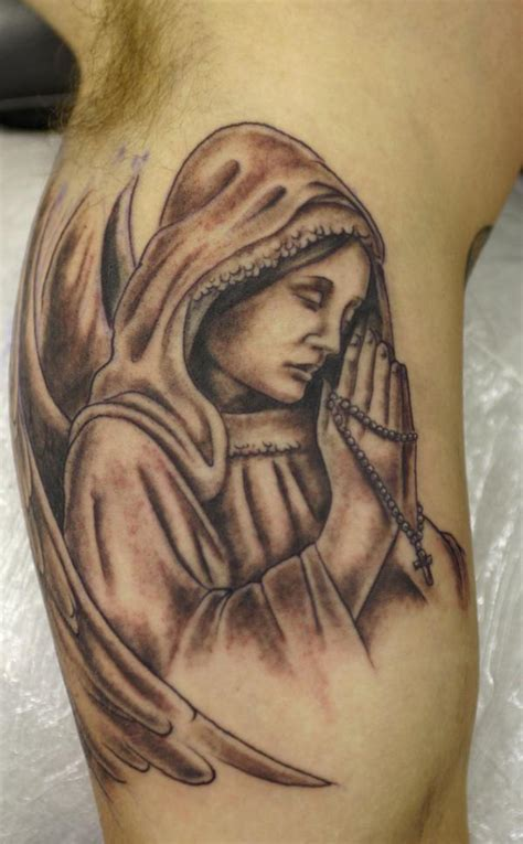 tattoo angel and cross 50 holy angel tattoo designs