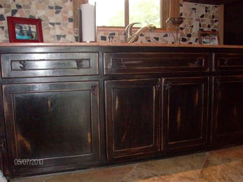 Distressed Wood Kitchen Cabinets by Distress Cabinets Bloggerluv Com