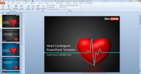 free powerpoint presentation templates with animation free animated powerpoint template with cardiogram