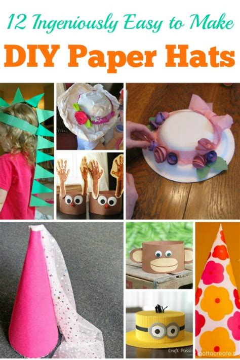 How To Make An Hat Out Of Construction Paper - 12 ingeniously easy to make diy paper hats