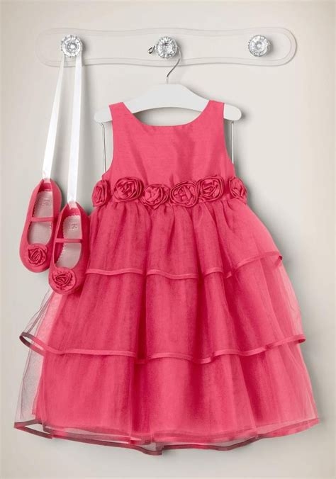 Anya Flower Pink Semi Baby Dress Baju Anak F0623 janie and baby dresses o connell