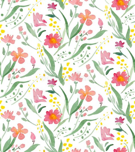 pattern flowers illustrator vector illustration seamless pattern with watercolor