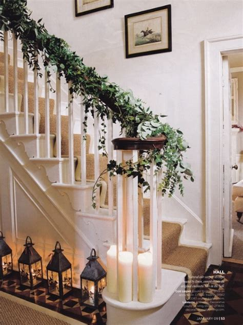 stairs decorations beautiful christmas decoration for stairs