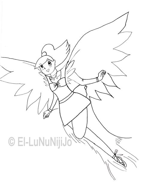 flying angel coloring page coloring page flying angel by el lununijijo on deviantart