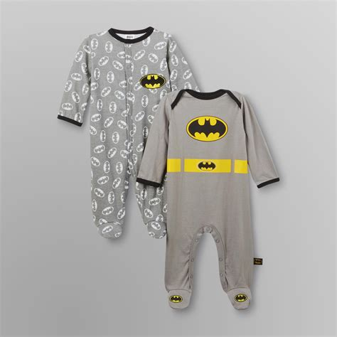 Baby Boy Sleepers by Dc Comics Batman Infant Boy S Sleeper Pajamas 2 Pairs