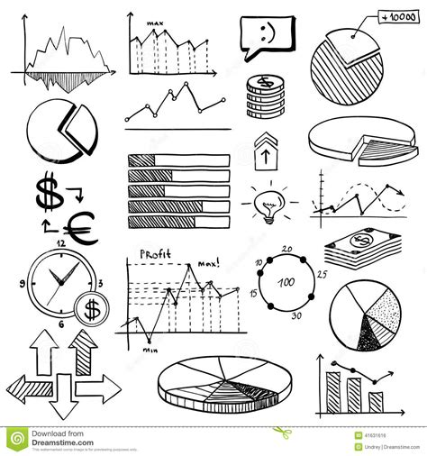 doodle element guide business finance doodle elements with stock