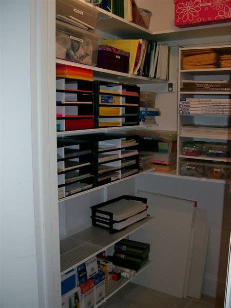 organize office closet organized by before after
