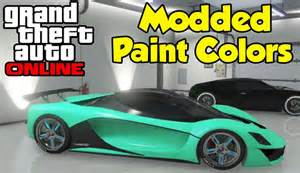 gta 5 crew colors gta quot modded paint colors quot tutorial how to