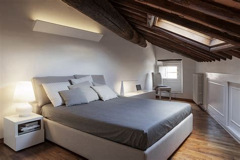bedroom with slanted ceiling smart renovation of historic italian apartment