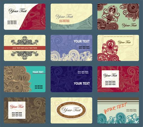 free vector business card templates vintage business cards template vector design