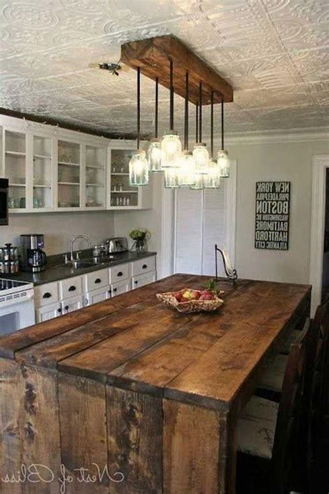 Rustic Kitchen Island Light Fixtures 23 Shattering Beautiful Diy Rustic Lighting Fixtures To Pursue Upcycled Furniture