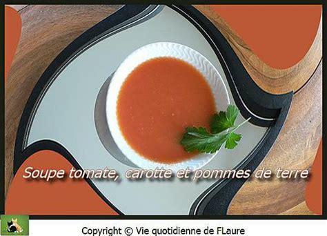 recette de potage aux carottes tomates et pommes de terre