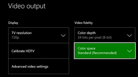xbox one color depth should i use rgb limited or rgb on my playstation or