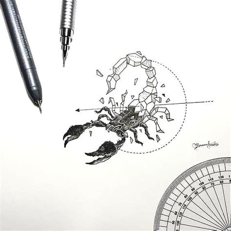 geometric scorpion tattoo design