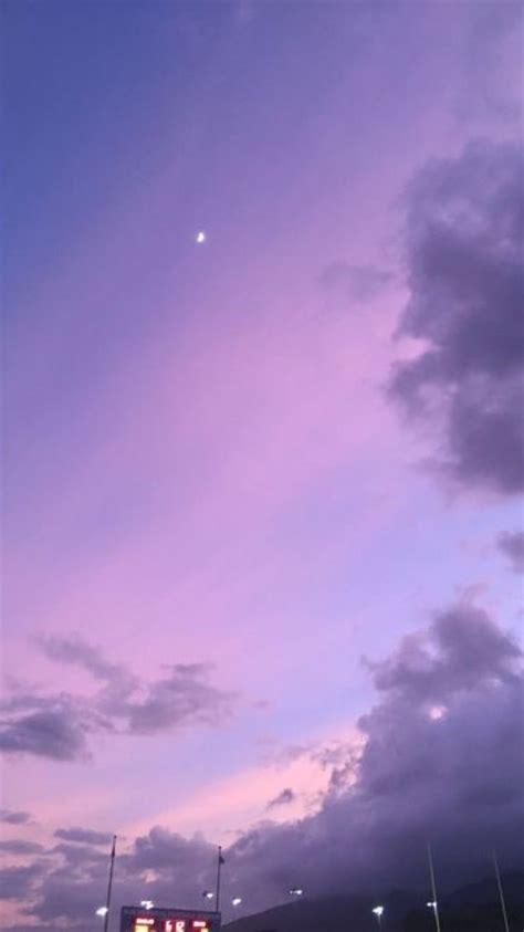 night sky twilight  moon lavender sunsets