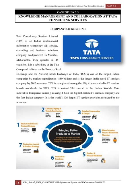 Mba Knowledge Management by 5 3 Knowledge Management And Collaboration At Tata