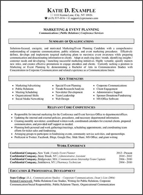 marketing resume exles 2014 communications writer resume