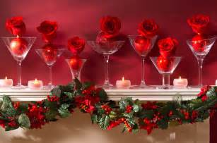 ordinary Xmas Mantelpiece Decoration Ideas #6: rose-christmas-mantel-decor.jpg