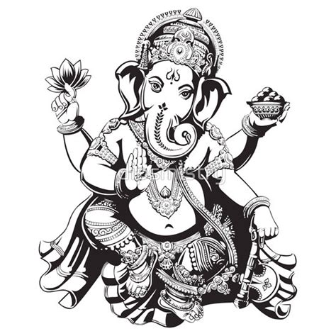 Ganesha Tattoo Black And White | black and white ganesh ganesha tattoo black and white