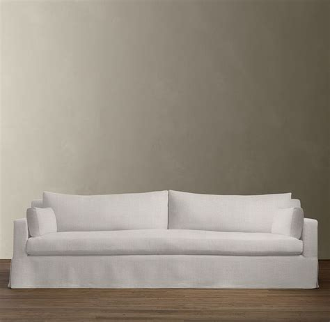 restoration hardware fabric sofas pure style home let s talk about my white sofa
