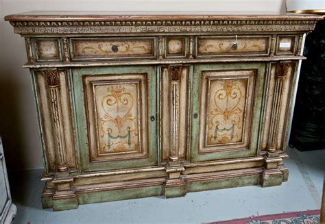 Painted Credenzas italian painted credenza cabinet at 1stdibs