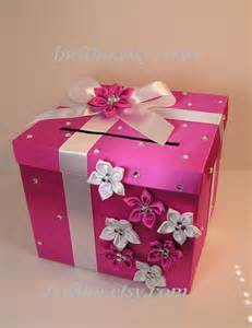 pink and white wedding card box gift card box by bwithustudio
