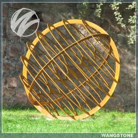 garden decoration application australia large hollow metal sphere for garden