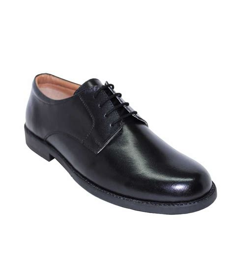 alleviater black leather formal shoes for price in