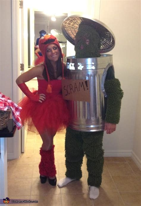 elmo  oscar  grouch halloween couples costume